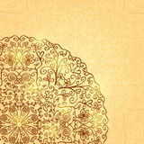 Light Background with Half Mandala Ornament Royalty Free Stock Images