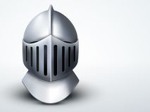 Light Background Knight's Helmet. Vector Royalty Free Stock Photos