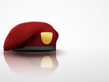Light Background maroon Military Red Beret Army Royalty Free Stock Photography