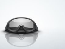 Light Background Military black goggles vector Royalty Free Stock Photos