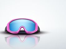 Light Background with pink ski goggles. vector Royalty Free Stock Images