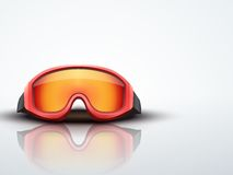 Light Background red ski goggles. vector Stock Photography