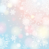 Light background with snowflakes and stars, vector royalty free stock photo