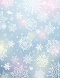Light background with snowflakes and stars, vector royalty free stock image