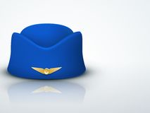 Light Background Stewardess hat of air hostess Royalty Free Stock Photography