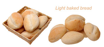 Light baked breads Stock Photos
