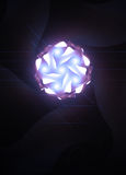 Light ball. Artful bright light ball in retro look Stock Images