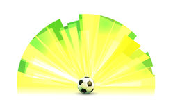 Light Banner Round Form with Soccer Ball Royalty Free Stock Photography
