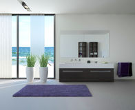 Light bathroom interior Stock Images