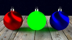 Light in baubles stock footage