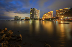 Light on the beach. Hotel light on the pattaya beach royalty free stock image
