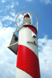 Light beacon. On the port of Tivat Stock Images