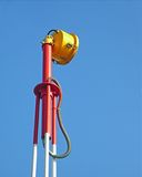 Light Beacon. Detail of a Light Beacon used for aircraft guidance in the airfield Stock Photography