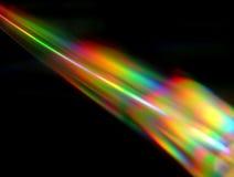Light beam. Light fission in CD Stock Photos