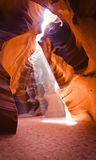 Light Beam through Antelope Canyon Royalty Free Stock Photography