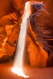 Light beam in Antelope Canyon in Arizona Royalty Free Stock Photo