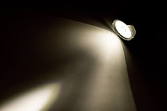 Light beam from flashlight. In the dark Stock Photography