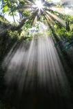 Light beam in pokhara,nepal Royalty Free Stock Image