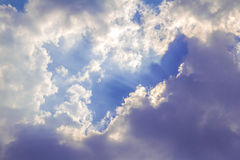 Light beam with white cloud Royalty Free Stock Photo