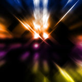 Light beams. Abstract image of light beams with use of a colour gradient Royalty Free Stock Images