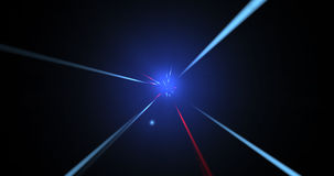 Light beams journey stock video footage
