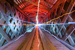 Light Beams in a Tunnel Stock Images