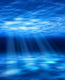 Light beams underwater Royalty Free Stock Photos