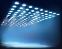 Light beams. Vector illustration. Stock Photography