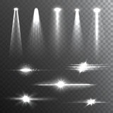 Light Beams White on Black composition Royalty Free Stock Photos