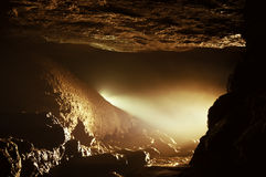 Light in a beautiful cave