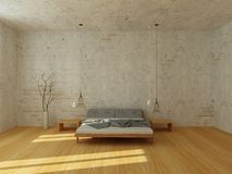 Light bedroom in modern Scandinavian style Stock Photo