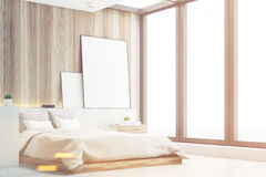 Light bedroom, wood, side, toned Royalty Free Stock Photo