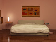 Light in bedrooms Royalty Free Stock Image
