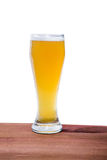 Light beer on the bar on a white background Royalty Free Stock Photography