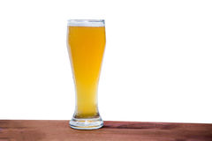 Light beer on the bar on a white background Royalty Free Stock Photo