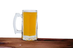 Light beer on the bar on a white background Stock Images