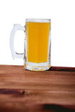 Light beer on the bar on a white background Stock Photography