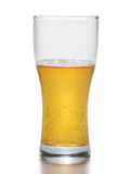 Light beer within big mug. Isolated over white background stock photo