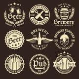 Light Beer Emblem Set Stock Photo
