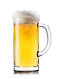 Light beer with the foam in mug Stock Images