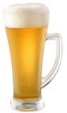 Light beer in glass Stock Photos