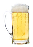 Light beer glass with foam Stock Photo