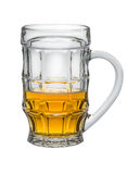 Light Beer in a glass isolated on white background Stock Photos