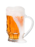 Light Beer in a glass isolated on white background Stock Photography
