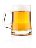 Light beer in glass mug Royalty Free Stock Images
