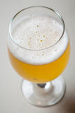 Light beer on gray Royalty Free Stock Photography
