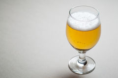 Light beer on gray Royalty Free Stock Photo