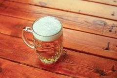 Light beer mug Royalty Free Stock Photography