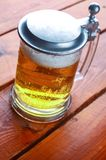 Light beer mug Stock Photography