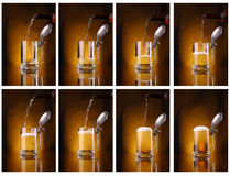 Light beer pouring Stock Photography